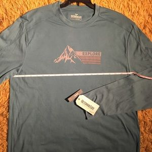 Mens Moisture Wicking Graphic Tee Size Large